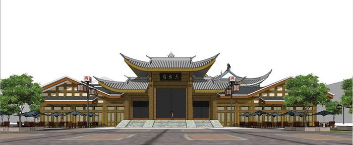 仡佬民俗风情建筑su精细模型收藏(1)