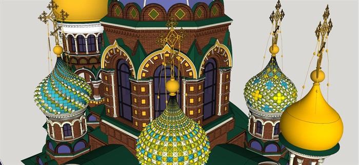 莫斯科滴血大教堂su精细精致模型(2)