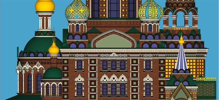 莫斯科滴血大教堂su精细精致模型(6)
