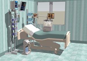 ICU病房设计SU(草图大师)模型
