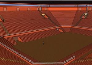 某体育场馆室内及建筑设计SU(草图大师)模型