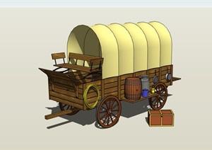欧式风格运输人拉车设计SU(草图大师)模型