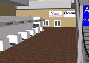 机场?#24067;?#21306;室内设计SU(草图大师)模型