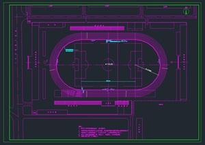 学校操场学校体育场平面施工图