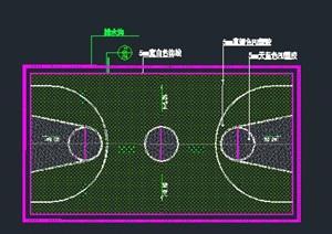 篮球场施工图学校标准篮球场详图