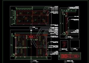 新中式现代中式花架廊架单笔花架悬挑花架施工图详图