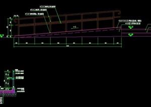 2种无障碍坡道残疾人坡道残坡栏杆施工图详图
