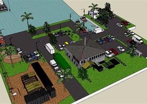 某综合多栋建筑楼设计SU(草图大师)模型