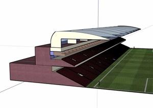 现代风格足球场馆建筑SU(草图大师)模型