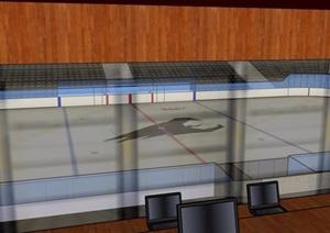 某详细的体育场馆建筑设计SU(草图大师)模型
