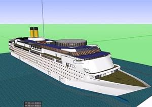 详细的大型游轮设计SU(草图大师)模型