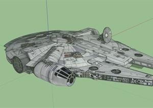 飞船设计SU(草图大师)模型