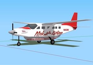 详细直升机素材设计SU(草图大师)模型