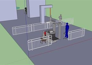 安全处素材设计SU(草图大师)模型