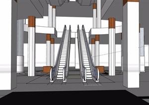 现代电梯素材设计SU(草图大师)模型