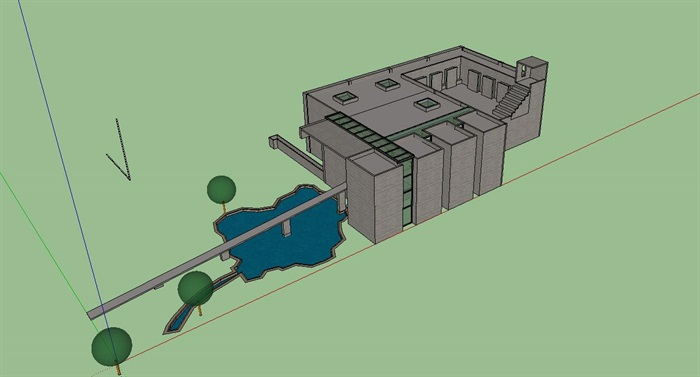刘家琨大师经典作品鹿野苑石刻博物馆 SU+CAD+PDF案例分析(1)