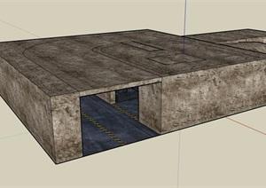 某现代风格车库廊设计SU(草图大师)模型