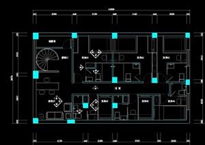 宁波小宾馆设计装修cad施工图