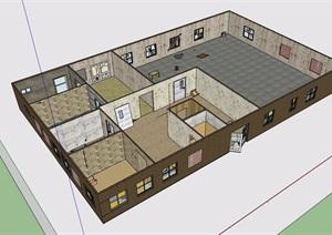 某简单的医院空间SU(草图大师)模型