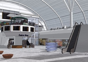 某图书馆详细室内设计SU(草图大师)模型