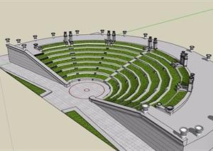园林景观看台素材设计SU(草图大师)模型