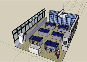 某教室实验室设计SU(草图大师)模型
