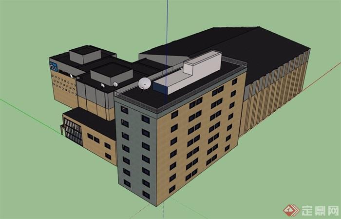 某电视台建筑设计su模型