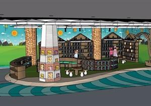 图书馆室内SU(草图大师)模型