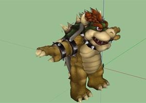 龙龟动物素材设计SU(草图大师)模型
