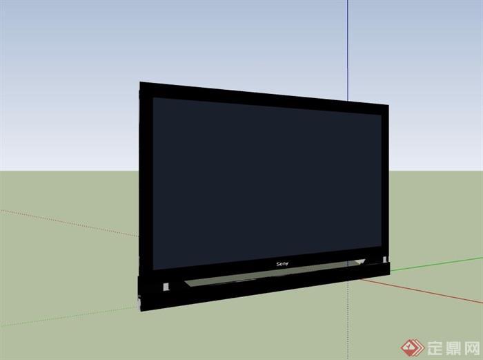 电视机素材设计su模型[原创]