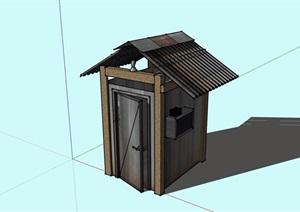 公厕卫生间建筑SU(草图大师)模型