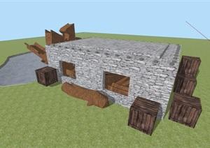 园林景观公建素材设计SU(草图大师)模型
