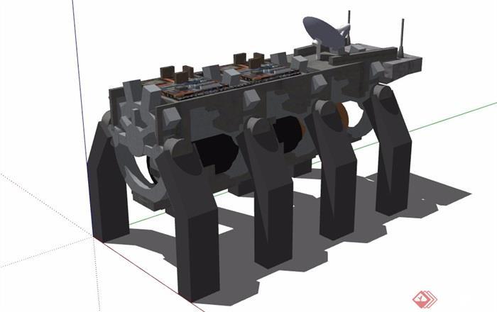 独特造型的发动机素材设计su模型[原创]