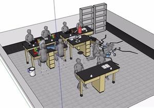 某教室简单设计SU(草图大师)模型