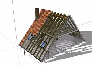 欧式房屋屋顶设计SU(草图大师)模型