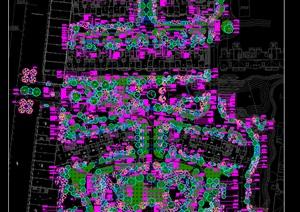某大型小区绿化种植设计施工图居住区绿化植物配置