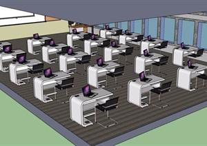 多媒体教室室内SU(草图大师)模型