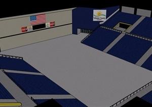 现代体育场馆室内SU(草图大师)模型