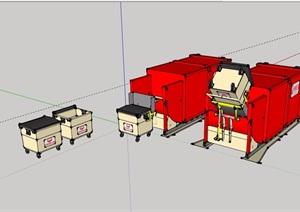 某垃圾想详细素材设计SU(草图大师)模型