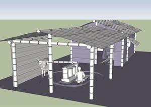 民房详细的建筑SU(草图大师)模型
