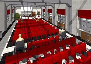 某现代室内会议中心设计SU(草图大师)模型
