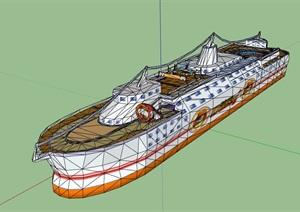 某轮船游轮设计SU(草图大师)模型