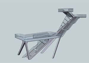某楼梯详细素材设计SU(草图大师)模型