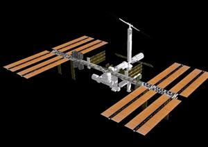 某卫星素材设计SU(草图大师)模型