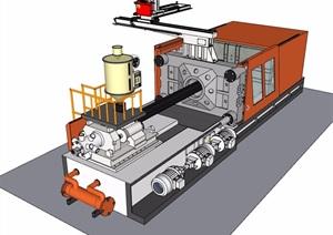 详细的机械设备素材设计SU(草图大师)模型