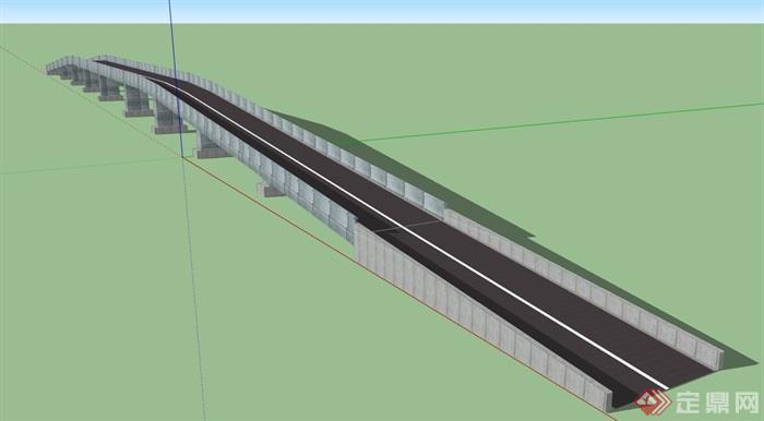 某交通拱桥桥梁su模型