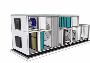 抽风机电器素材设计SU(草图大师)模型