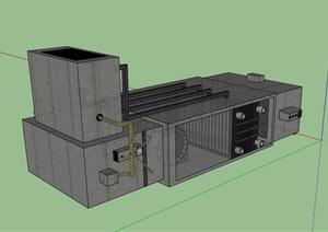 某详细的电器素材SU(草图大师)模型