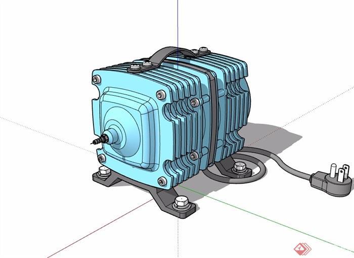 详细发动机详细素材设计su模型[原创]