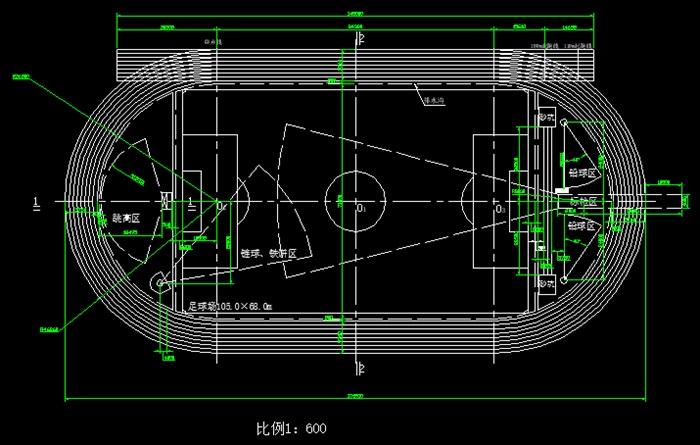 400米标准跑道详细平面图_t3[原创]
